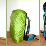 Quechua Forclaz 40 Air backpack in 3 different configurations