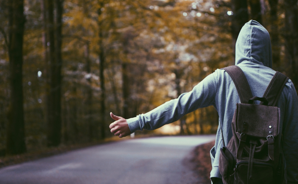 Hitchhiking is one way how to travel for free