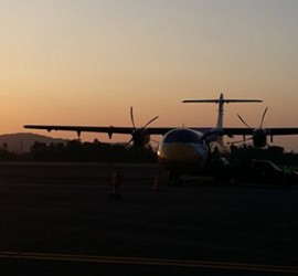 ranong airport sunset