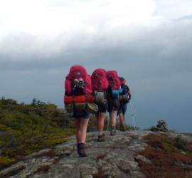 Backpacking with new outdoor and running gear