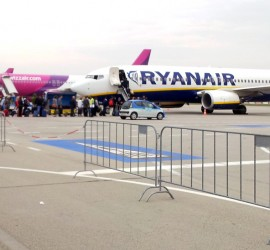 Low-cost airlines Ryanair and Wizz air